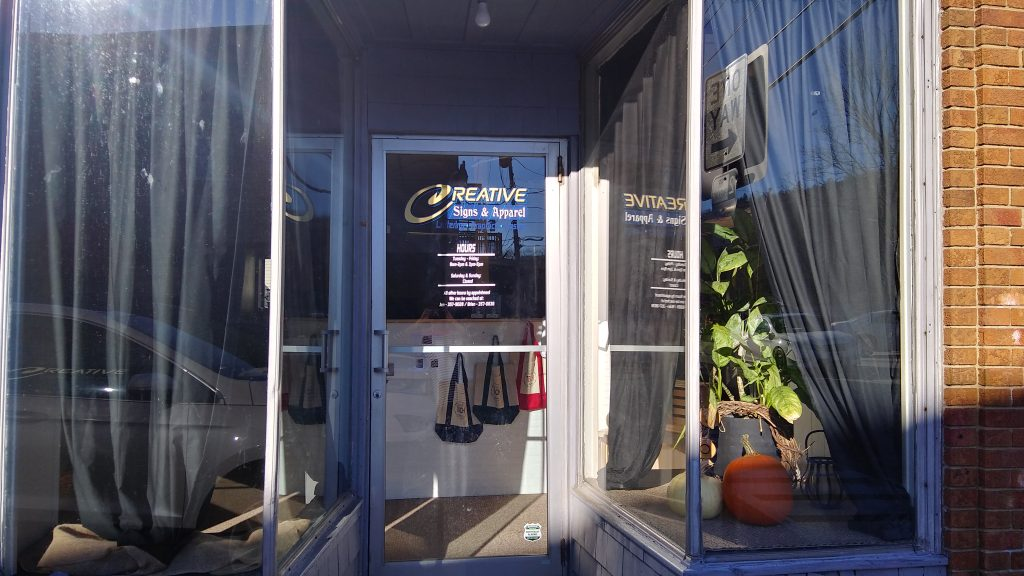 Creative Sign & Apparel Storefront