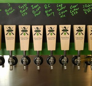 Island Dog Brewing Tap Handles