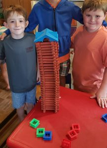 Children built a tower, Grasshopper Academy