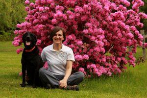 Lindsay Ware and Dog