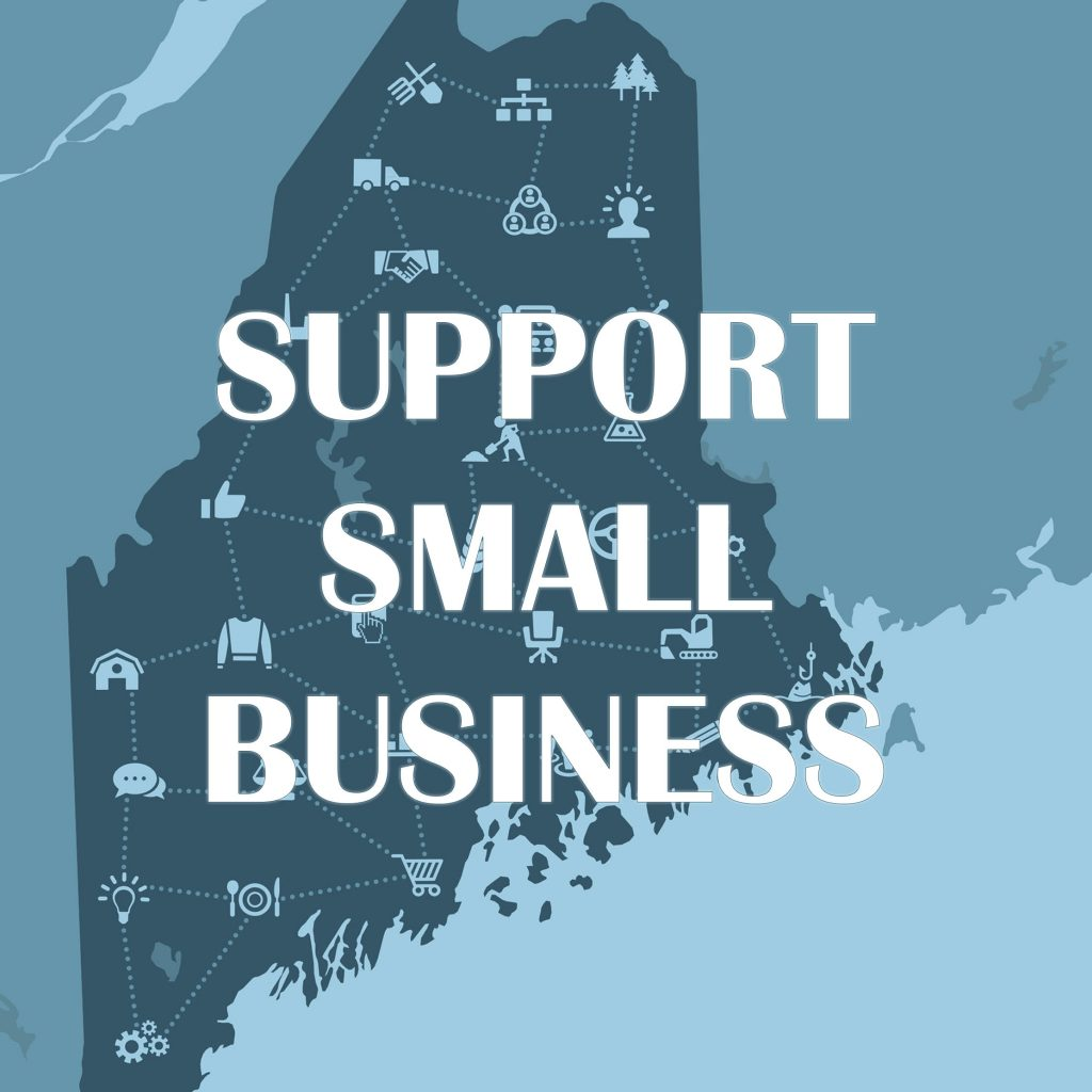 Maine Map - Support Small Business